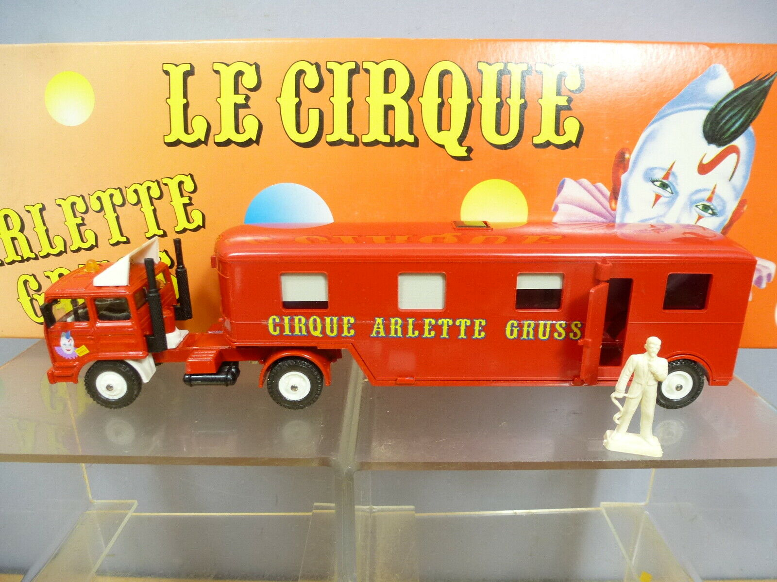 VEREM  MODEL MODEL MODEL No.826 RENAULT REMORQUE CARAVAN CIRCUS ARLETTE GRUS             MIB fe29b3