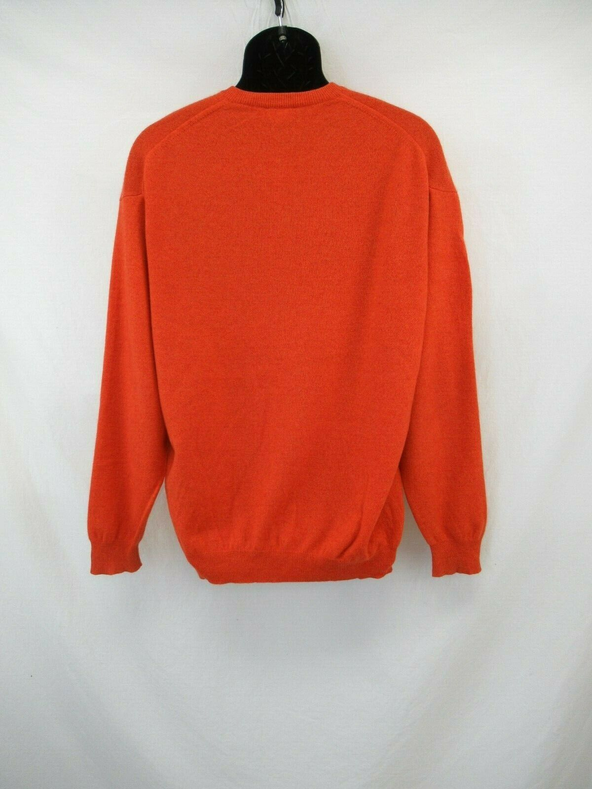 Paul Simon Men's 100% Cashmere Orange V-Neck Swea… - image 2
