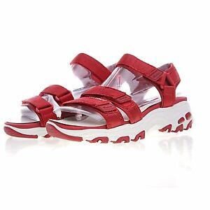 New-Originals-Women-039-s-Sandals-Skechers-D-039-Lites-Fresh-Catch-Yoga-Foam-Red-sz