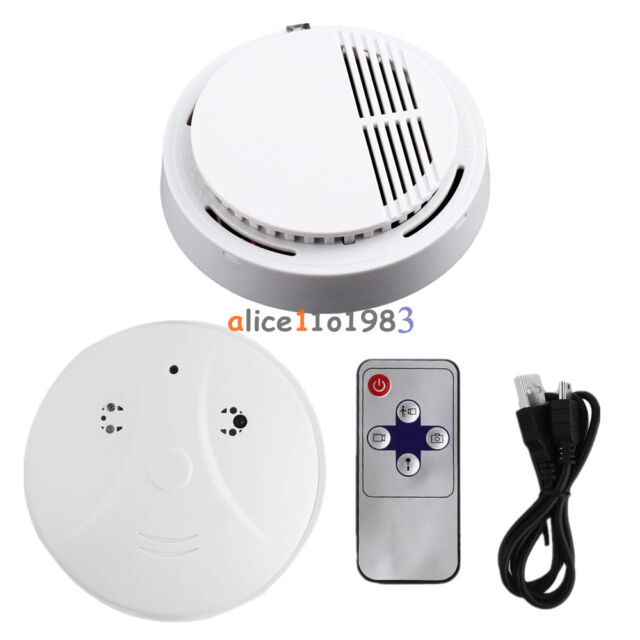 Mini SPY Hidden Camera Fire Smoke Sensor Detector Alarm Tester Home Security DVR