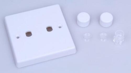 Varilight Matrix 2-Gang Plaque Unique variateur Kit Blanc Classique Variateur WQ2W