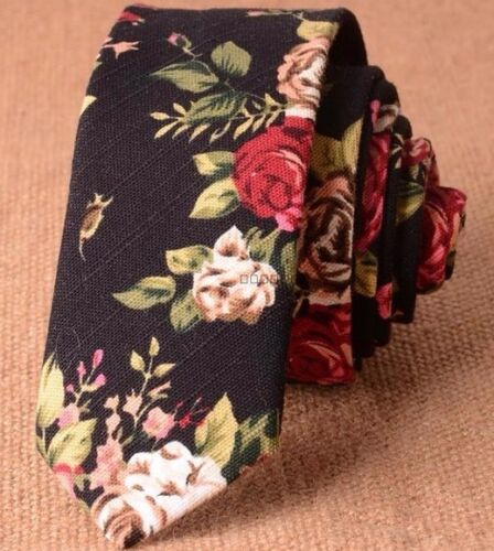 Neue Retro Schwarz Blumenmuster Skinny Schnürung Hervorragende Qualität /&