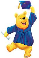 Disney Winnie The Pooh Graduation Mylar Foil Balloon 35 Jumbo Size Super Shape