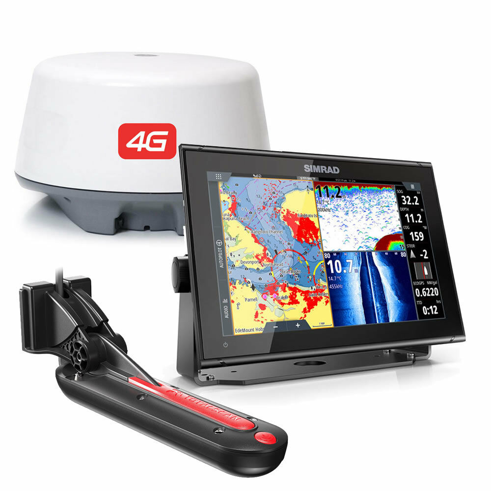 GO12 XSE ROW SIMRAD chartplotter + TOTALSCAN RADAR 4G display 12  000-14455-001