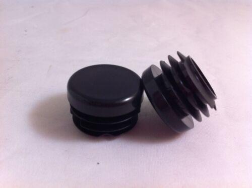 """1 Negro 22mm 7//8 /""""de plástico Suajes Capuchones insertos enchufe Canilla De Tubo Redondo insertar"""