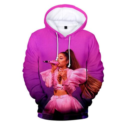 Men Women Hoodie Sweatshirt 3D Ariana Grande Print Jacket Coat Pullover Top