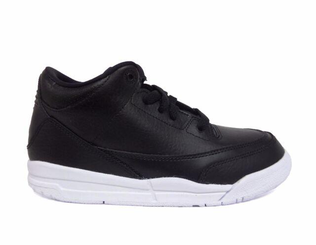 0646c0b70e4f Nike Air Jordan III 3 Retro BP PS Sz 1 Cyber Monday Kids Black White 429487  020