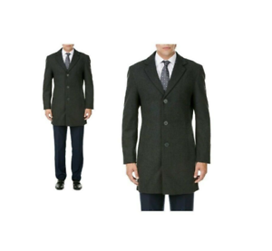 Mdrn Uomo By Braveman Mens Charcoal Grey 3xl Single Breasted Wool Blend Coat Nwt 1570000120101 Ebay