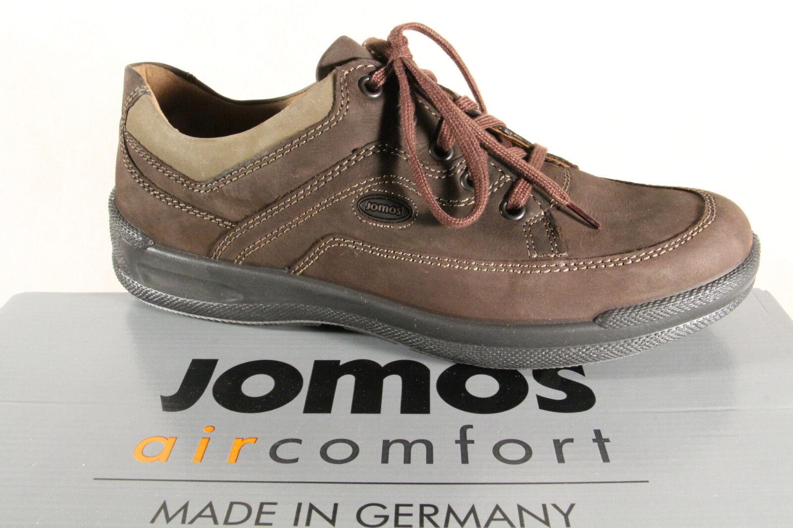 Jomos aircomfort Herren Schnürschuh 419205 Turnschuhe Halbschuh braun Leder  NEU