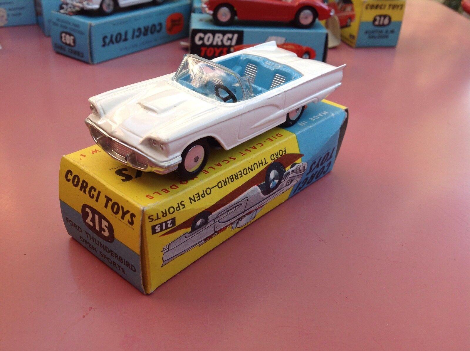 Corgi Toys REF 215 Ford thunderbird   near Mint in original box