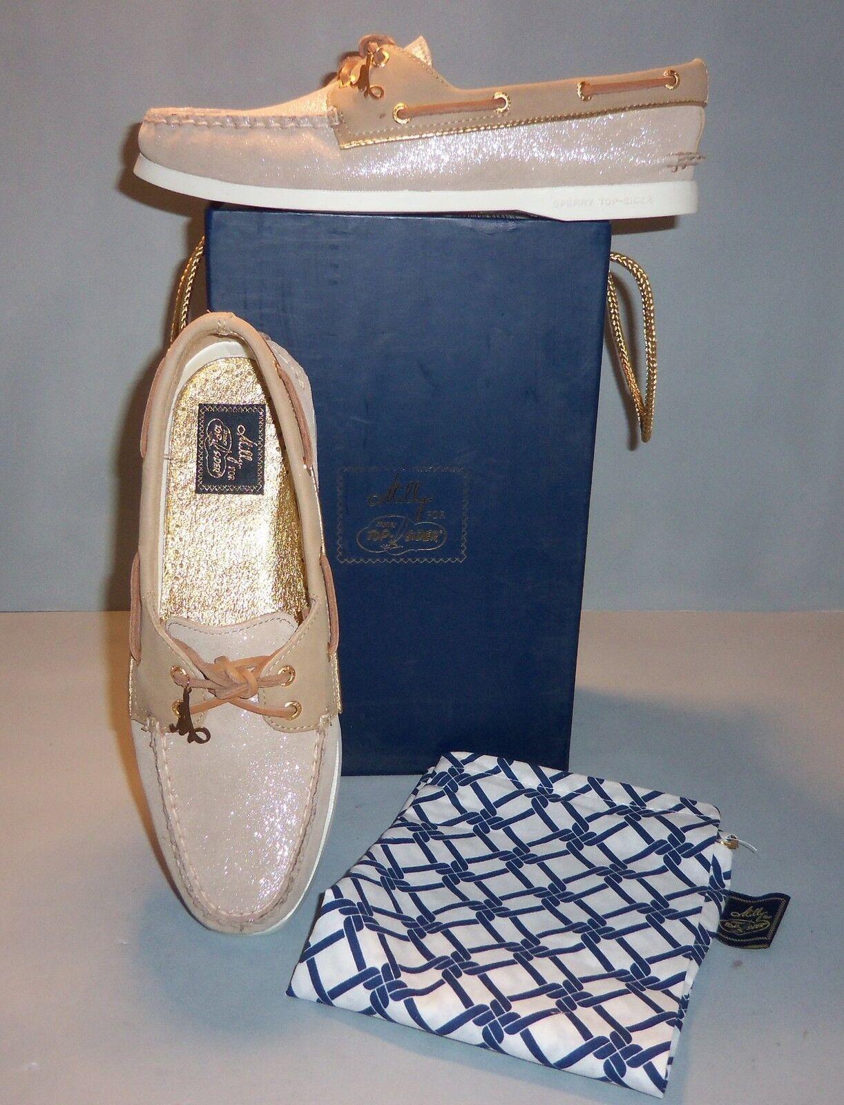 seleziona tra le nuove marche come Milly for Sperry Donna    Top-Sider Taupe Sparkle Suede Boat scarpe DimensioneS  NIB NEW  risparmia il 35% - 70% di sconto