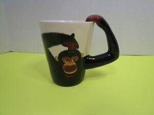 New-World-Market-Ceramic-Chimpanzee-Monkey-Safari-Novelty-Coffee-Mug-Cup