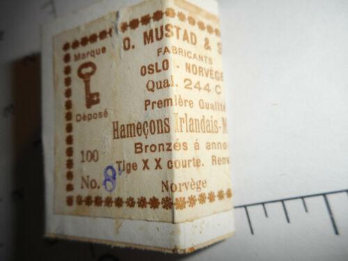 MUSTAD /& SON HOOKS #8 Hamecons Irlandais BRONZED REVERSED 2X SHORT SHANK 244C
