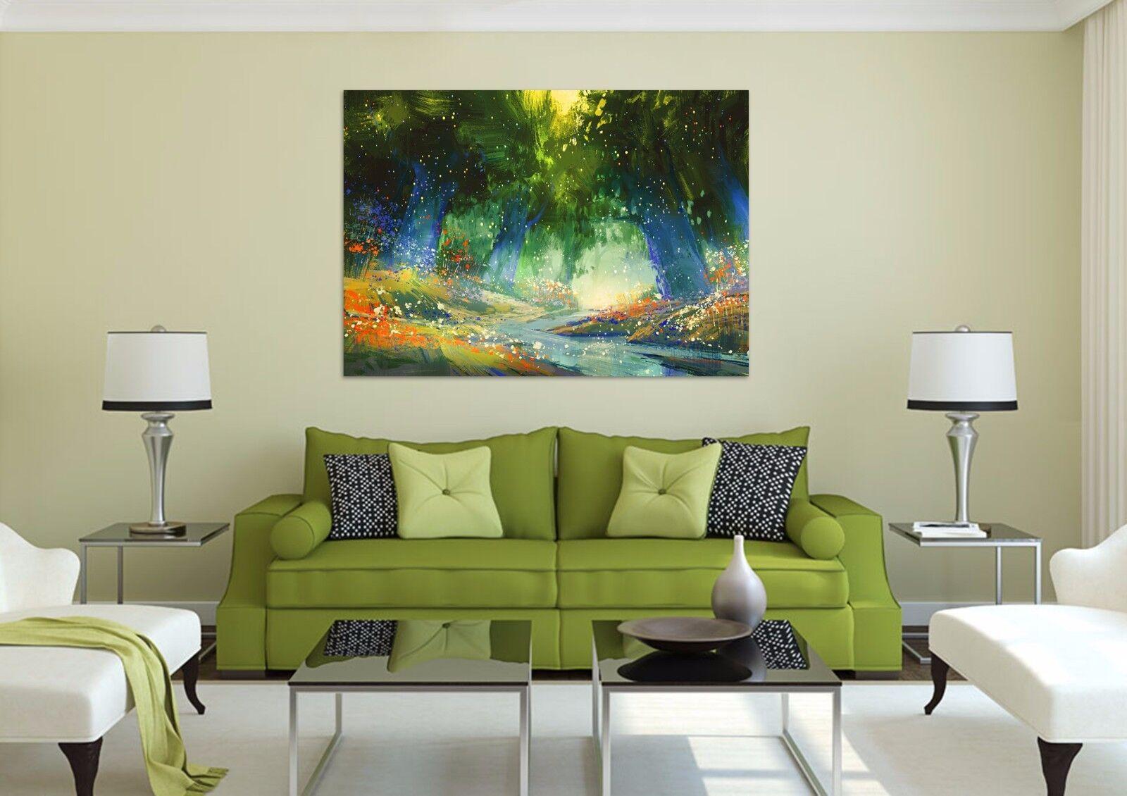 3D Firefly Wald Fluss  Bild 8445 Fototapeten Wandbild BildTapete AJSTORE DE Lemo | Verbraucher zuerst  | ein guter Ruf in der Welt  | Kaufen Sie online