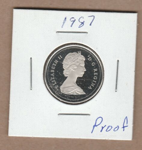 1987 Canadian 25 Cent  From the Proof Set