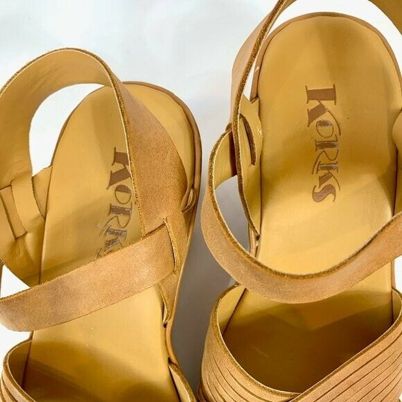 Korks Leather Wedge Martinique Strappy Sandals 7 - image 3
