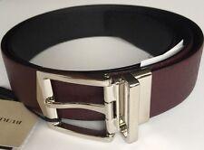 BURBERRY Scarpe e Accessori di 4 cm reversibile textured-leather Cintura 95 W32 RRP £ 315