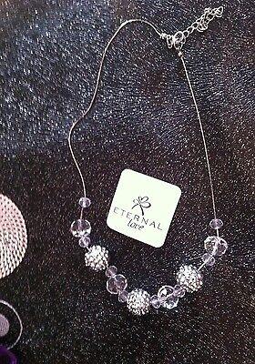 * Neu / Damen Halskette In Silberfarbe #,..,.,-.-.,,.-
