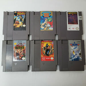 Nintendo-NES-Game-lot-of-6-Ninja-Gaiden-Gauntlet-II-Kings-Knight-Bad-Dudes