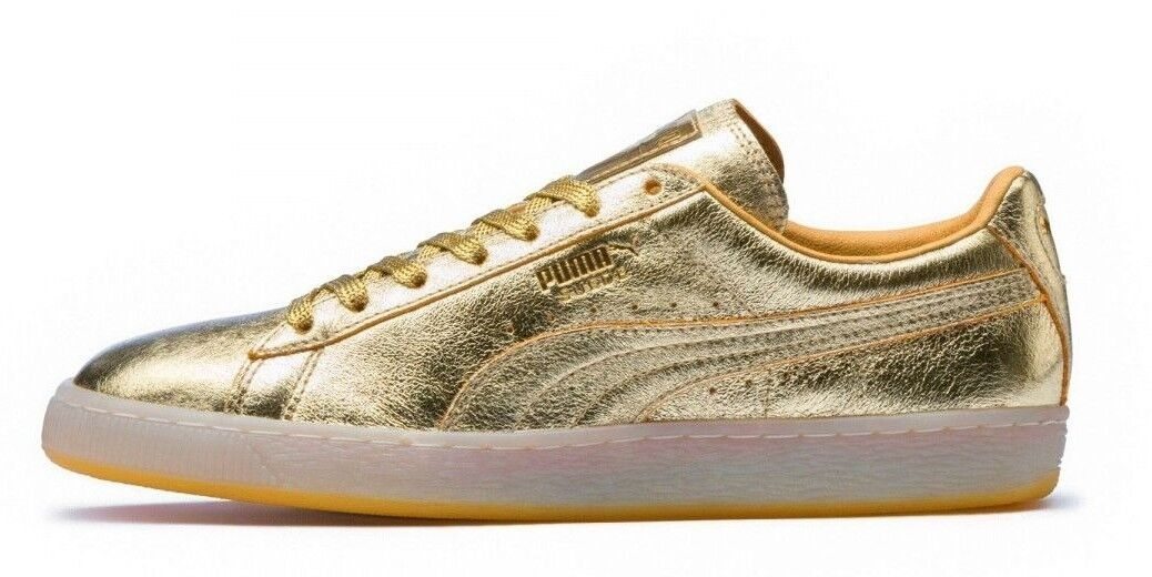 Puma Para hombres Zapatos  de gamuza clásico C 50th Oro Dorado 36634101 C clásico 362bd6