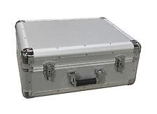 Universal DJ Turntable Vinyl Record Deck Flight Case Carry Case LP SILVER BOX