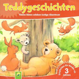 Teddygeschichten-ab-3-Jahren-CD-Kleine-Baeren-erleben-lustige-Abenteuer-Neu