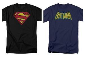 9222dcb4 2 Pack Combo Superman & Batman Logo DC Comics Adult Men's Graphic T ...