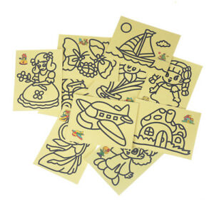 10pcs-Kids-DIY-Color-Sand-Painting-Art-Creative-Drawing-Toys-Sand-Paper-CraftsTO