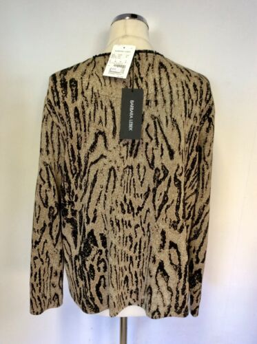617e64763e Up Bnwt Size Animal Print £85 amp  Zip Black Lebek Brown 20 Barbara Rrp  Cardigan prqvp8S