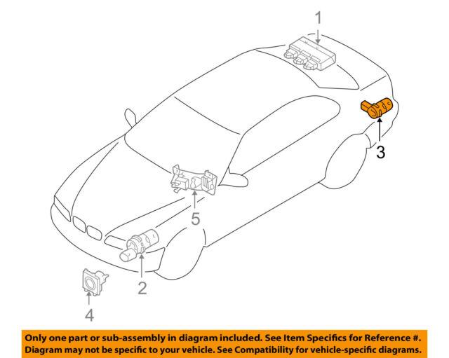 Auto Parts PDC Parking Sensor 66202184264 for BMW 7 E65 E66 | eBay