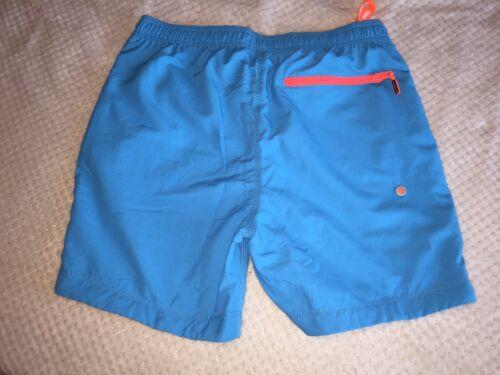 Superdry Mens Bathing Suit Size Large Orange And Blue
