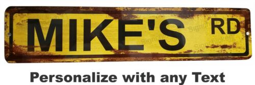 Personalized Custom Street Signs road sign garage sign RUSTY VINTAGE LOOK
