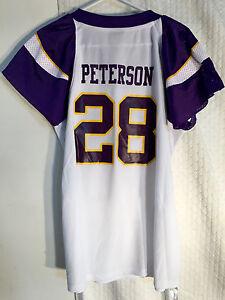 release date: d2f27 43bfd Details about Reebok Women's NFL Jersey Vikings Adrian Peterson White Flirt  sz M