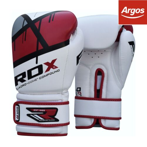 RDX Synthetic 12oz Leather Boxing Gloves Red