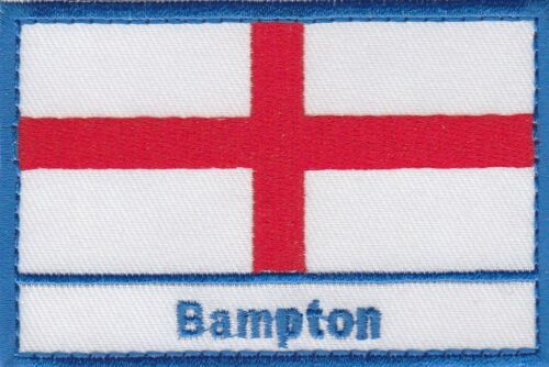 Bampton England Town /& City St George Cross Embroidered Sew on Patch Badge