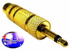 """From OZ Quality 1PC Mono 3.5mm 1/8"""" Male Plug to 6.35mm 1/4"""" Female Adapter +FP!"""