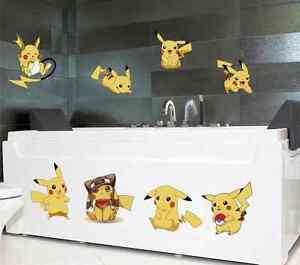 11 pocket pokemon pikachu kids bedroom wall stickers home
