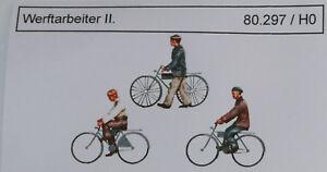 Artmaster 80.342 Wachpersonal mit Fahrräder H0 1:87 Figuren Bausatz Resin