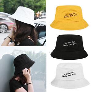 Fashion Women Men Letter Print Hip Hop Bucket Hats Fishing Cap Sun ... 4c0815af18d