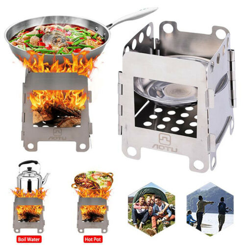 Portable Folding Furnace Picnic Stove Stainless Steel Charcoal Cooking Picnic
