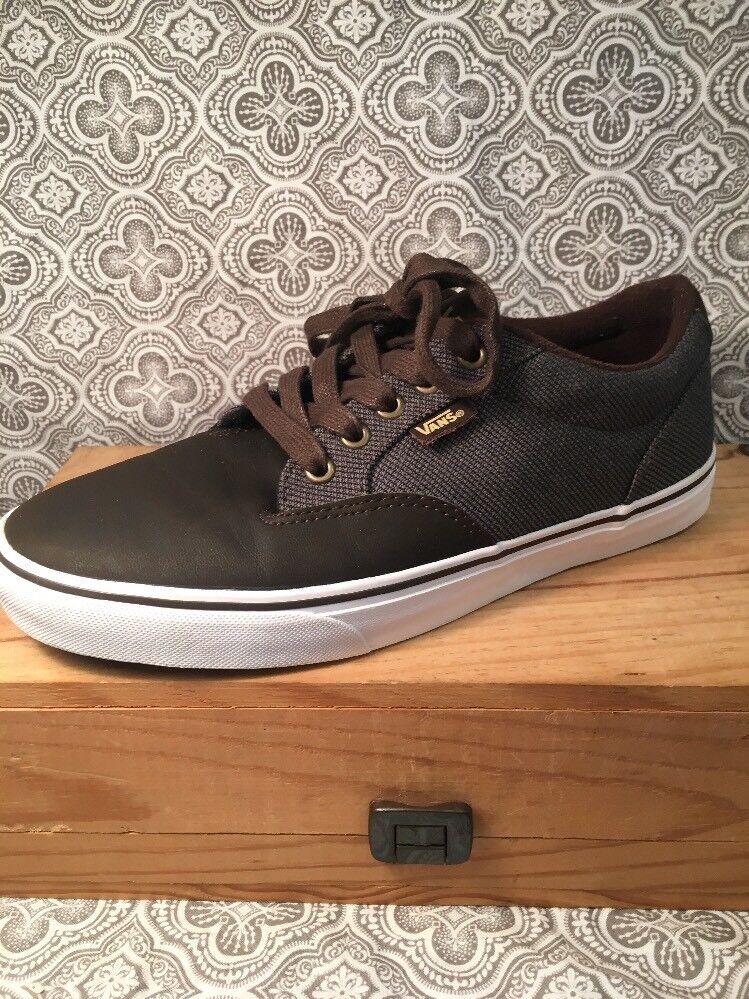 omaggi allo stadio VANS Marrone Leather & & & Fabric Textile scarpe 7 1 2 Uomo scarpe da ginnastica Casual scarpe  391  prezzi all'ingrosso