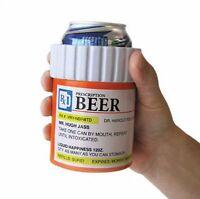Prescription Beer Can Bottle - Insulated Foam Pill Koozie Cooler Mug Holder