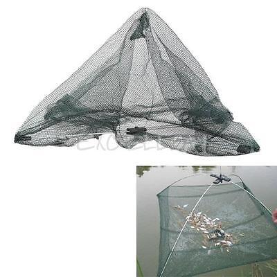 Portable Folding Nylon Fish Casting Net Bow Net Fishpot Fishing Cage E0Xc