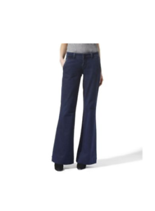 J BRAND SELINE in OSIDIAN lightweight wide leg retro trouser trousers jeans 28