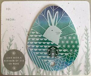 2016 starbucks blue die cut easter egg gift card no value mint ebay image is loading 2016 starbucks blue die cut easter egg gift negle Choice Image