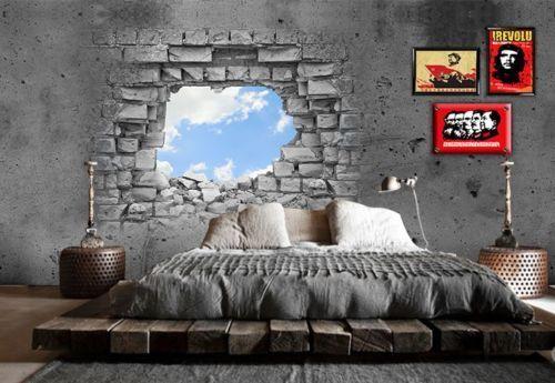 3D Wall hole sky 890 WallPaper Murals Wall Print Decal Wall Deco AJ WALLPAPER