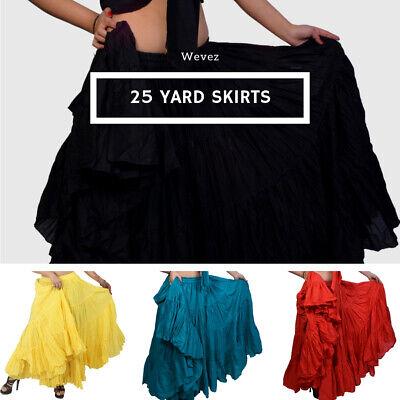 25 Yard Gypsy Tribal Danc Skirt pattern New 100/%  cotton Black Frill Skirt