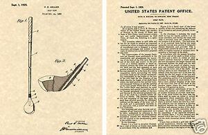 94195da6693e9 Details about Bobby Jones Golf Driver PATENT Art Print READY TO FRAME!!!  1925 US Wood Club