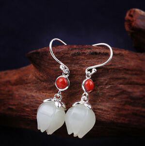 A03-Earring-Silver-925-Pomegranate-from-White-Jade-Red-Agate