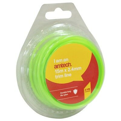 THIN 1.25mm x 15M STRIMMER WIRE Gardening Grass Trim Line Nylon Cable  Spool